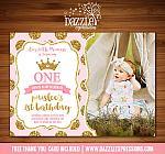 Princess Glitter Invitation 3 - FREE thank you card