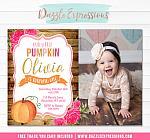 Pumpkin Floral Invitation 4 - FREE thank you card