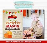 Pumpkin Birthday Invitation 6 - FREE Thank You Card included
