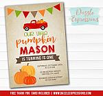 Pumpkin Birthday Invitation 7 - FREE Thank You Card included