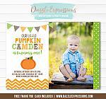 Pumpkin Birthday Invitation 8 - FREE Thank You Card