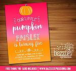 Pumpkin Birthday Invitation 3 - FREE Thank You Card included