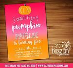Pumpkin Birthday Invitation 3 - FREE Thank You Card included