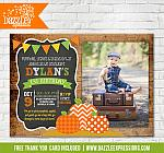 Pumpkin Patch Chalkboard Invitation 2 - FREE thank you card