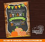 Pumpkin Patch Chalkboard Invitation 1 - FREE thank you card