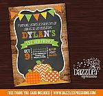 Pumpkin Patch Chalkboard Invitation 1 - FREE thank you card