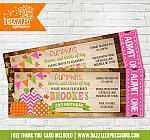 Pumpkin Patch Ticket Invitation 2 - FREE thank you card included