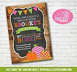 Pumpkin Patch Chalkboard Invitation 3 - FREE thank you card
