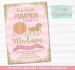 Pumpkin Princess Invitation 2 - FREE thank you card included