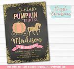 Pumpkin Princess Chalkboard Invitation - FREE thank you card