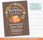 Pumpkin Baby Shower Invitation 3 - FREE thank you card