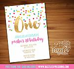 Rainbow Birthday Invitation 2 - FREE thank you card