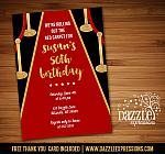 Hollywood Red Carpet Invitation - FREE thank you card