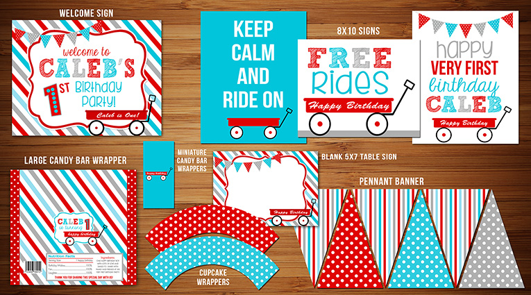 Red Wagon Complete Party Package