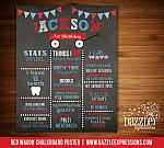 Printable Red Wagon Chalkboard Poster