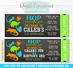 Reptile Chalkboard Ticket Invitation 1 - FREE thank you card
