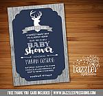 Rustic Deer Baby Shower Invitation - FREE thank you card included
