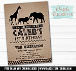 Safari Animal Invitation - FREE thank you card