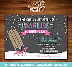 Sledding Chalkboard Invitation 2 - FREE thank you card included