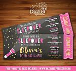 Sleepover Chalkboard Ticket Invitation 2 - FREE thank you card
