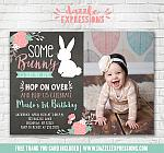 Some Bunny Rabbit Birthday Invitation 4 - FREE thank you card