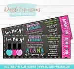 Spa Salon Chalkboard Ticket Invitation 1 - FREE thank you card