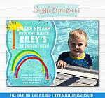 Splash Pad Birthday Invitation 2 - FREE thank you card included