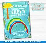 Splash Pad Birthday Invitation 1 - FREE thank you card included