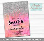 Ombre Watercolor Invitation 4 - FREE  thank you card