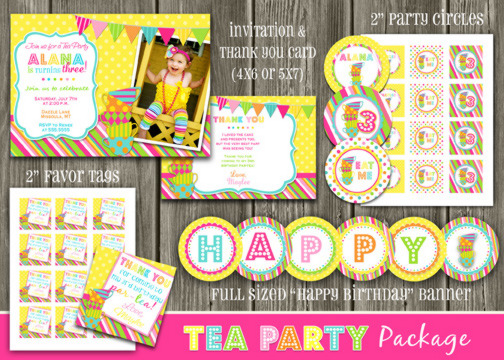 Tea Party Complete Party Package - Printable