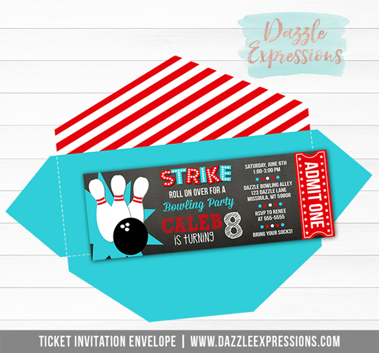 ADD ON Custom Ticket Envelope