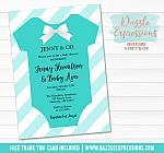 Tiffany and Co Inspired Baby Shower Invitation - FREE thank you card