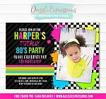 Totally 80s Birthday Invitation - FREE thank you card