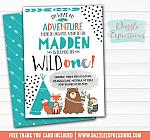 Wild One - Tribal Woodland Invitation 2 - FREE thank you card and back side