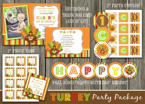 Turkey Complete party Package - Printable