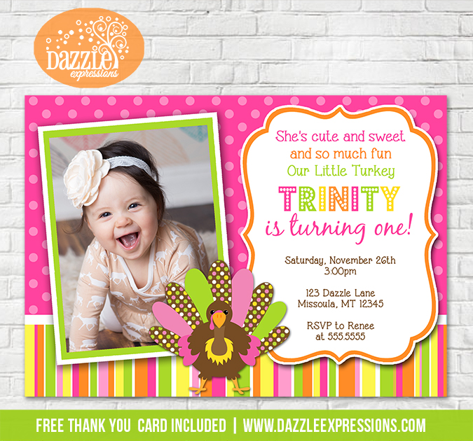 Turkey Birthday Invitation 1