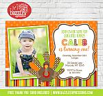Turkey Birthday Invitation 2 - FREE thank you card included