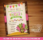 Turkey Birthday Invitation 4 - FREE thank you card included