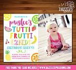 Tutti Frutti Birthday Invitation 2 - FREE thank you card included