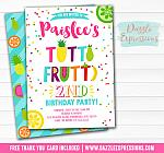 Tutti Frutti Birthday Invitation 4 - FREE thank you card included