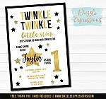 Twinkle Little Star Invitation 11 - FREE thank you card included