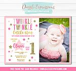 Twinkle Little Star Invitation 2 - FREE thank you card included