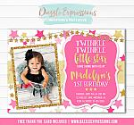 Twinkle Little Star Invitation 6 - FREE thank you card included