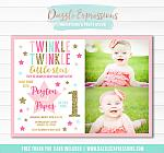 Twinkle Little Star Invitation 7 - FREE thank you card included