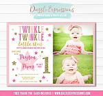 Twinkle Little Star Invitation 8 - FREE thank you card included
