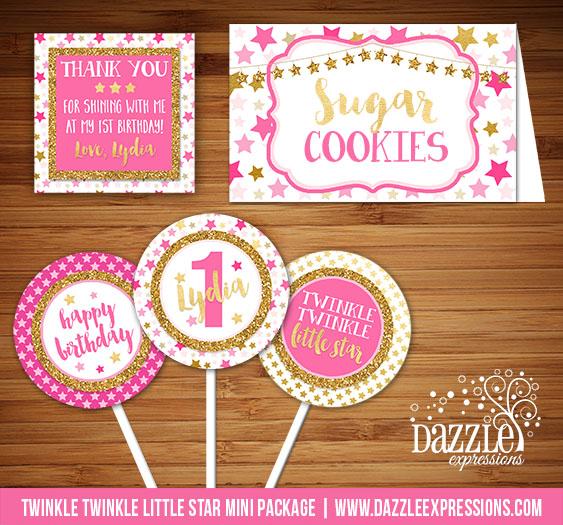 Printable DIY Twinkle Twinkle Little Star Birthday Party Package