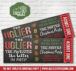 Ugly Sweater Party Chalkboard Ticket