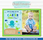 Under the Sea Invitation 4 - FREE Thank You Card Included