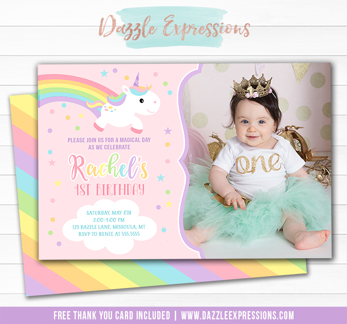 Unicorn Birthday Invitation 16