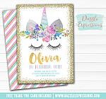 Unicorn Birthday Invitation 8 - FREE thank you card included